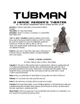 Reader's Theater Play - TUBMAN: America's Superhero