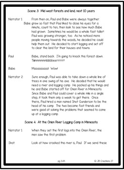 Reader's Theater:  Tall Tale of Paul Bunyan (differentiated scripts!)