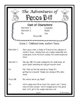 Reader's Theater:  Tall Tales for 3rd-5th grades (differentiated reading levels)
