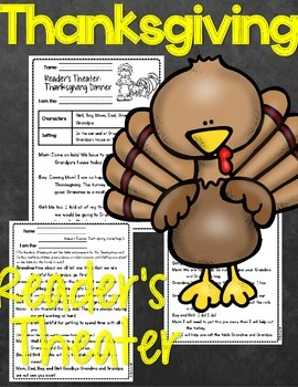Reader's Theater Thanksgiving