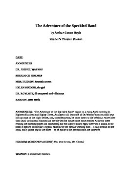Readers Theater - The Adventure of the Speckled Band - Sherlock Holmes