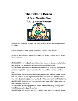 "Readers Theater:  ""The Baker's Dozen, a St. Nicholas Day Tale"""