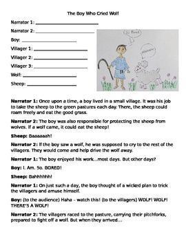 Readers Theater The Boy Who Cried Wolf