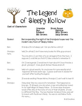 Reader's Theater: The Legend of Sleepy Hollow (script for 3rd, 4th, 5th)