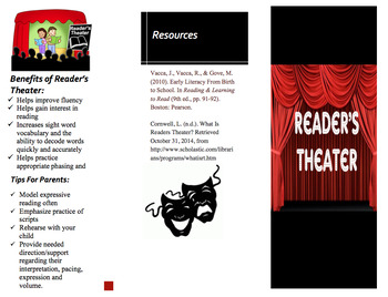 Readers Theater Trifold Handout