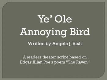 "Readers Theater for Edgar Allan Poe's Poem ""The Raven"""