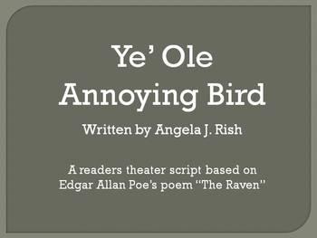 "Readers Theater for Edgar Allan Poe's Poem ""The Raven"""