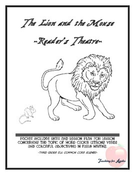 """Reader's Theater for """"The Lion and the Mouse"""" fable writing"""
