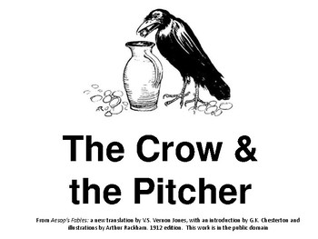 """Readers Theatre: Aesop's Fable """"The Crow and the Pitcher"""""""