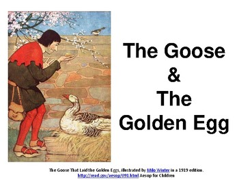 """Readers Theatre: Aesop's Fable """"The Goose and the Golden Egg"""""""