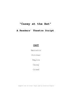Readers' Theatre: Casey at the Bat full unit