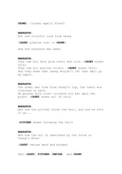"""Readers' Theatre: """"Casey at the Bat"""" script"""