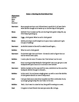 Reader's Theatre Class Script: How To Be Cool in the Third Grade