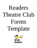 Readers Theatre Club Forms Template