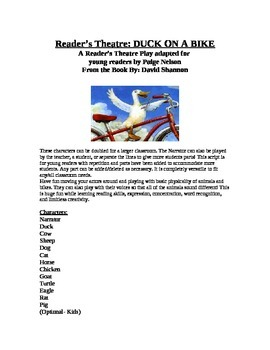Reader's Theatre: Duck On a Bike