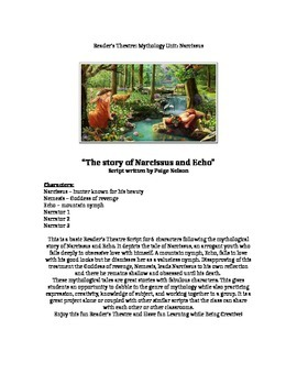 Reader's Theatre Script:Mythology Unit: Narcissus and Echo