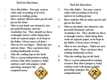 Reader's Tool Kit