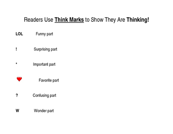 Readers Use Think Marks!