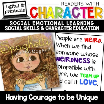 Courage to be Unique - Character Education | Social Emotional Learning SEL