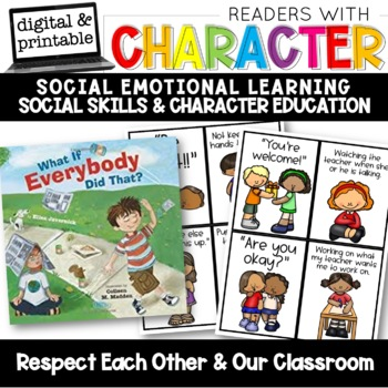 Social And Emotional Skills Everybody >> Respect Character Education Social Emotional Learning Sel Tpt
