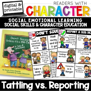 Tattling vs. Reporting - Character Education | Social Emotional Learning SEL