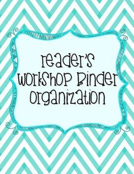 Reader's Workshop Binder Organization