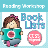 Reading Workshop Book Lists Common Core Aligned
