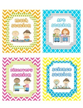 Literacy Centers / Station Signs & More