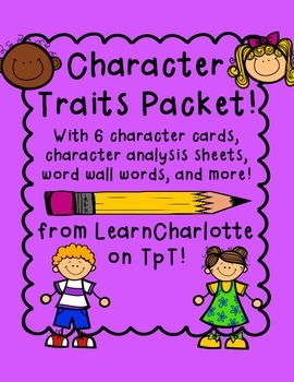 Character Trait Packet for Readers' Workshop