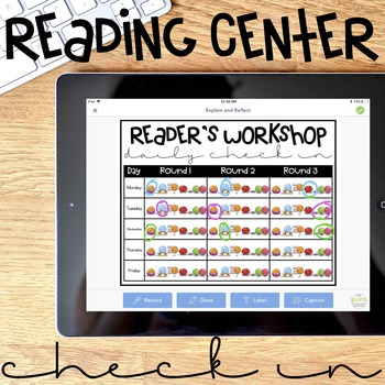 Readers Workshop Check In Sheets for SeeSaw (and other digital platforms)