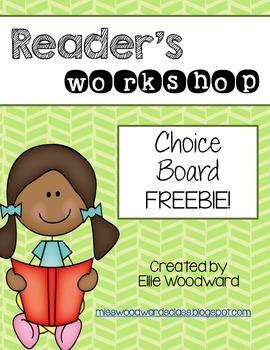 Reader's Workshop Choice Board FREEBIE!