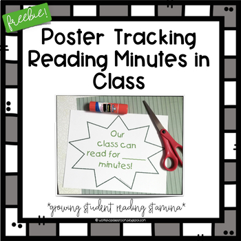 Readers Workshop Class Goal/Incentive/Minutes Read in Class Poster