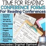 Reader's Workshop Conferring Notes | Reading Conference Form