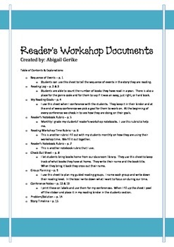 Reader's Workshop Pack