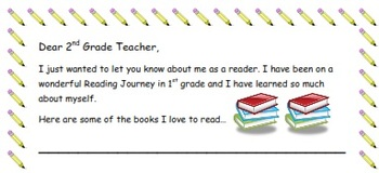 Readers Workshop- End of Year Letter to My 2nd Grade Teacher