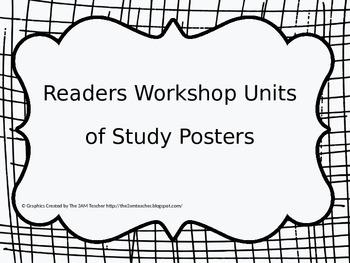 Reader's Workshop:  Genre Posters, Student Reading Log, Teacher Conference Sheet