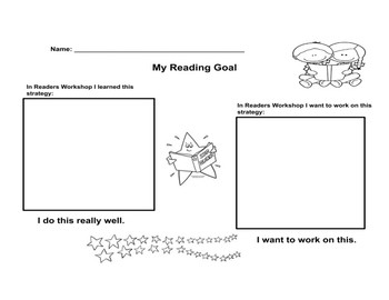 Readers Workshop Goal Setting Template