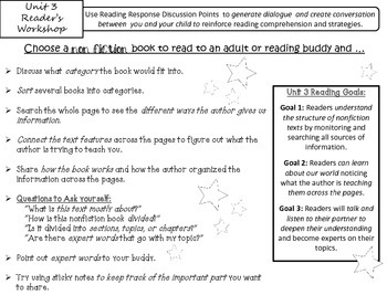 Reader's Workshop Goals & Teacing Points Units 1-5