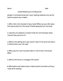 Guided Reading Journal Response Questions