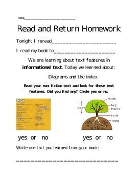 Reader's Workshop Homework Connections