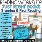 Reader's Workshop Just Right Books and Stamina Building