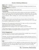 Reader's Workshop Kindergarten Mini Lessons Units 7-8