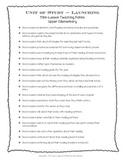 Reader's Workshop Launching Mini-Lesson Topics