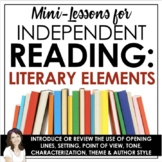 Reader's Workshop: Literary Elements Mini-Lessons (Distanc