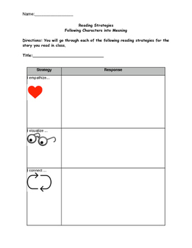 Readers Workshop/Lucy Calkins/ Following Characters into Meaning