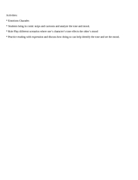 Readers Workshop-Mini Lesson-Tone & Mood