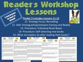 Reader's Workshop Mini Lessons- Packet 3 Procedures, Strat