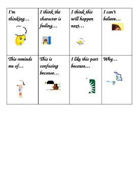 Reader's Workshop Partner Think & Talk Comprehension Cards