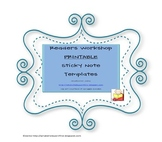 Readers Workshop Printable Sticky Note Templates