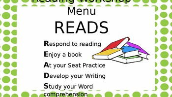 Readers Workshop READS Menu